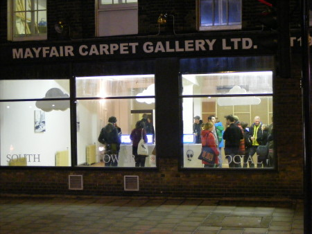 South Tower Social at the Old Mayfair Carpet Gallery