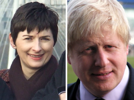Caroline Pidgeon AM and Boris Johnson