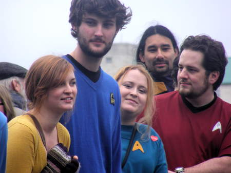 World record for Star Trek costumed characters set at Millennium Bridge