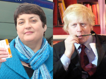 Val Shawcross AM and Boris Johnson