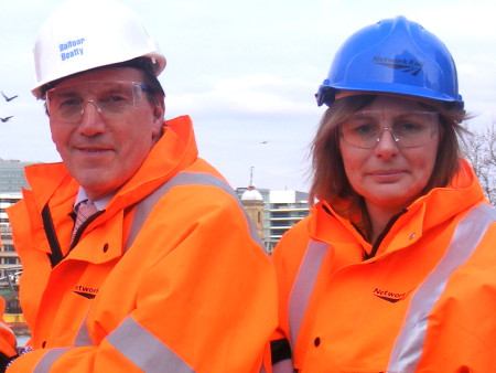 Simon Hughes MP and Cllr Adele Morris visiting the
