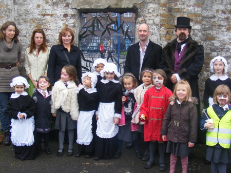 Charles Dickens drops in to Little Dorrit Park for opening of new playground