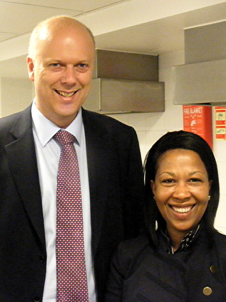 Chris Grayling and Loanna Morrison