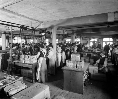 An interior view of the Cropper & Co factory, Sout
