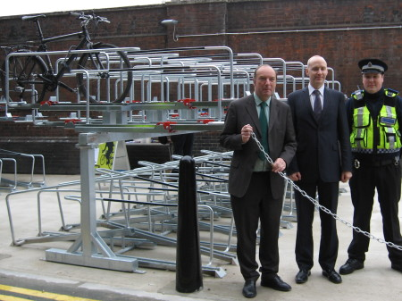Transport minister opens double-deck cycle parking at Waterloo Station