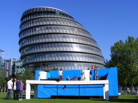 Doritos installs giant sofa in Potters Fields Park