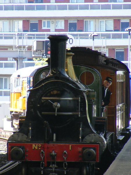Railway Children locomotive and carriage arrive at Waterloo International