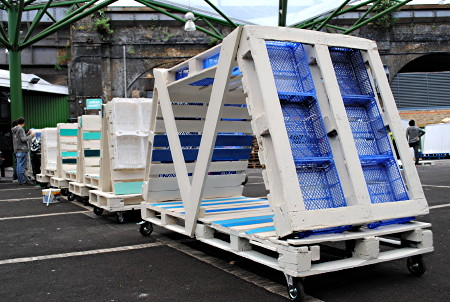 Nomadic Allotments arrive at Borough Market