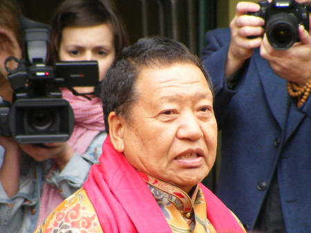 Akong Rinpoche outside the new centre