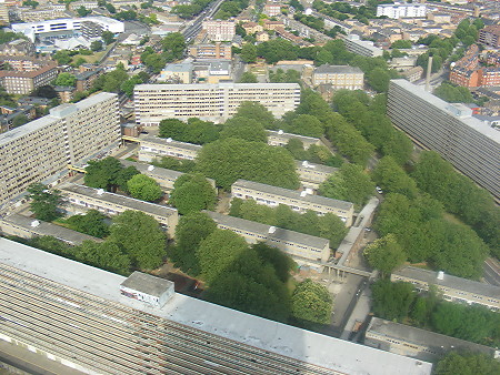 Heygate Estate seen from Strata SE1