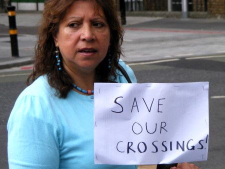 Parents protest against plans to cut Tooley Street pedestrian crossings