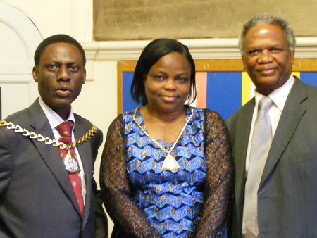 The Mayor and Mayoress of Southwark with Richard T