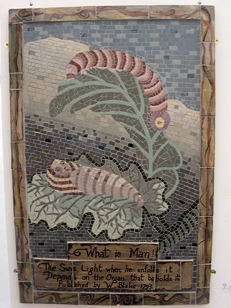 William Blake mosaics destined for SE1 tunnel on show at Lincoln's Inn Fields