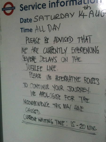 Severe delays on first day of Jubilee line's new signalling system
