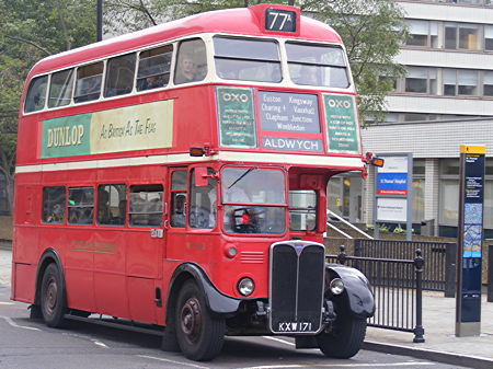 Historic RT buses carry passengers through North Lambeth streets