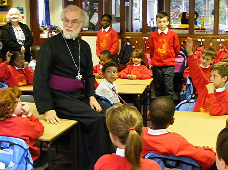 Archbishop of Canterbury visits Southwark's Cathedral School