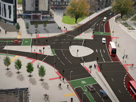 Elephant & Castle southern roundabout to be removed by 11 October
