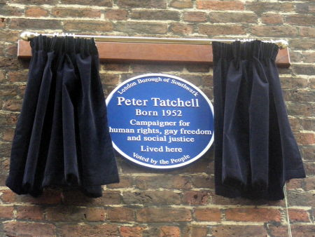 Peter Tatchell blue plaque