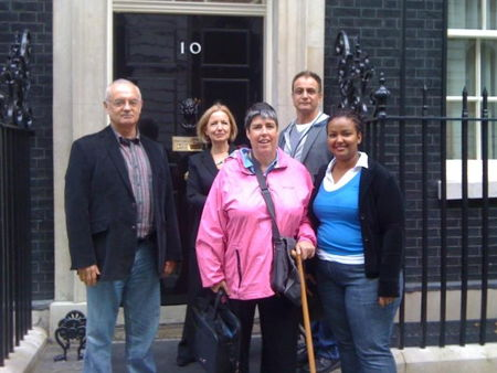 Morley staff and students outside 10 Downing Stree