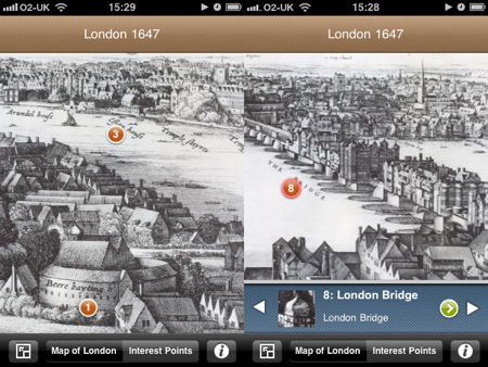 Hollar's 1647 'Long View of London' panorama released as iPhone app