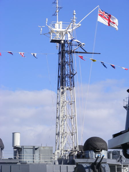 One of the new masts
