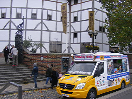 Ice cream van at Shakespeare's Globe