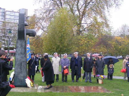 Remembrance Sunday at Borough High Street and Soviet War Memorial