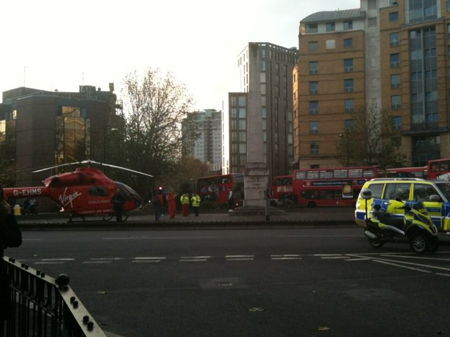 Pedestrian critically injured in London Road bus smash