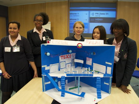 Southwark schoolgirls design and build their own tube station