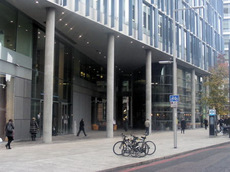 IPC Media objects to extended cycle hire docking station at Bankside Mix