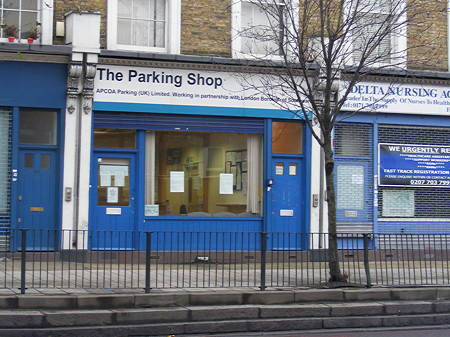 The Parking Shop in Old Kent Road