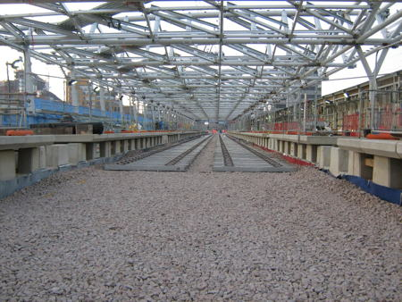 Blackfriars Thameslink track switch completed