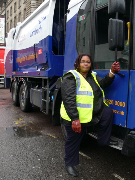 Lambeth councillor joins dustcart crew on South Bank round