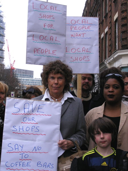 Kate Hoey MP joins residents for 'save our shops' protest in The Cut