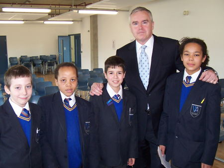 Huw Edwards at Walworth Academy