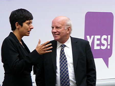 Katie Ghose with Greg Dyke