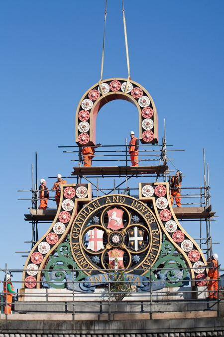 Historic Blackfriars Railway Bridge shields dismantled for Thameslink works
