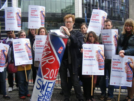 Fair pay campaigners picket SportAccord conference at Park Plaza