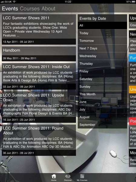 London College of Communication launches iPhone and iPad app