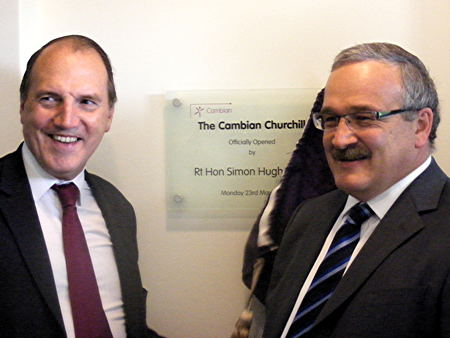 Simon Hughes opens Cambian Churchill mental health hospital