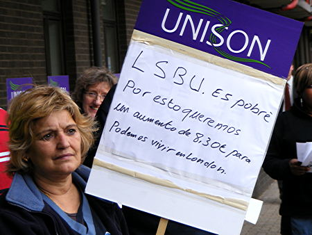 London South Bank University cleaners demand 'living wage'
