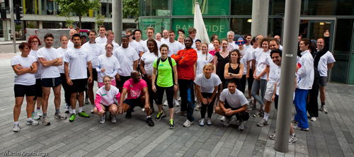 Bankside Health Club lunchtime run in aid of Breast Cancer Care