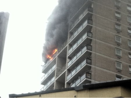 Fire at Lupin Point in Abbey Street