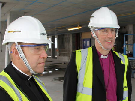 Bishop of Southwark surveys his diocese from 56th floor of the Shard