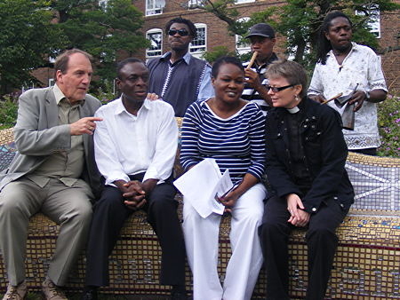 Simon Hughes MP with Tim and Grace Idowu and Revd