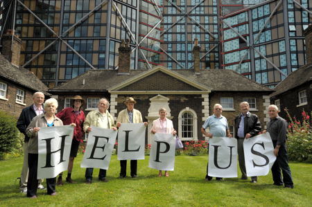 Hopton's Almshouses: residents renew call for transfer to local charity