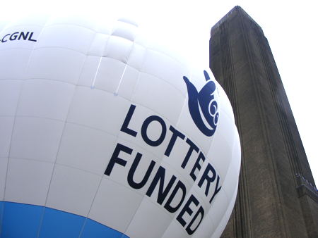National Lottery's London 2012 hot air balloon comes to Bankside
