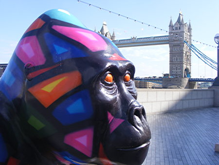 20 life-size gorilla statues appear at More London Riverside