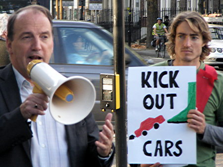 Climate Rush campaigners call on TfL to put people before cars