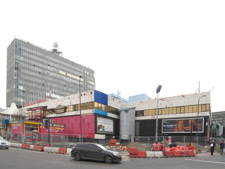 Elephant & Castle Shopping Centre's blue makeover completed